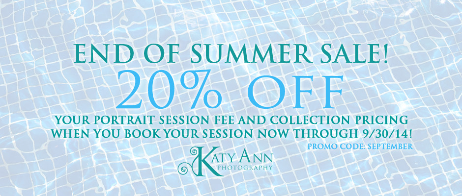 sept 2014 - end of summer sale
